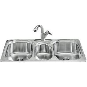 Kohler triple sink befon for leaky sinks you dont need a man to fix it workwithnaturefo
