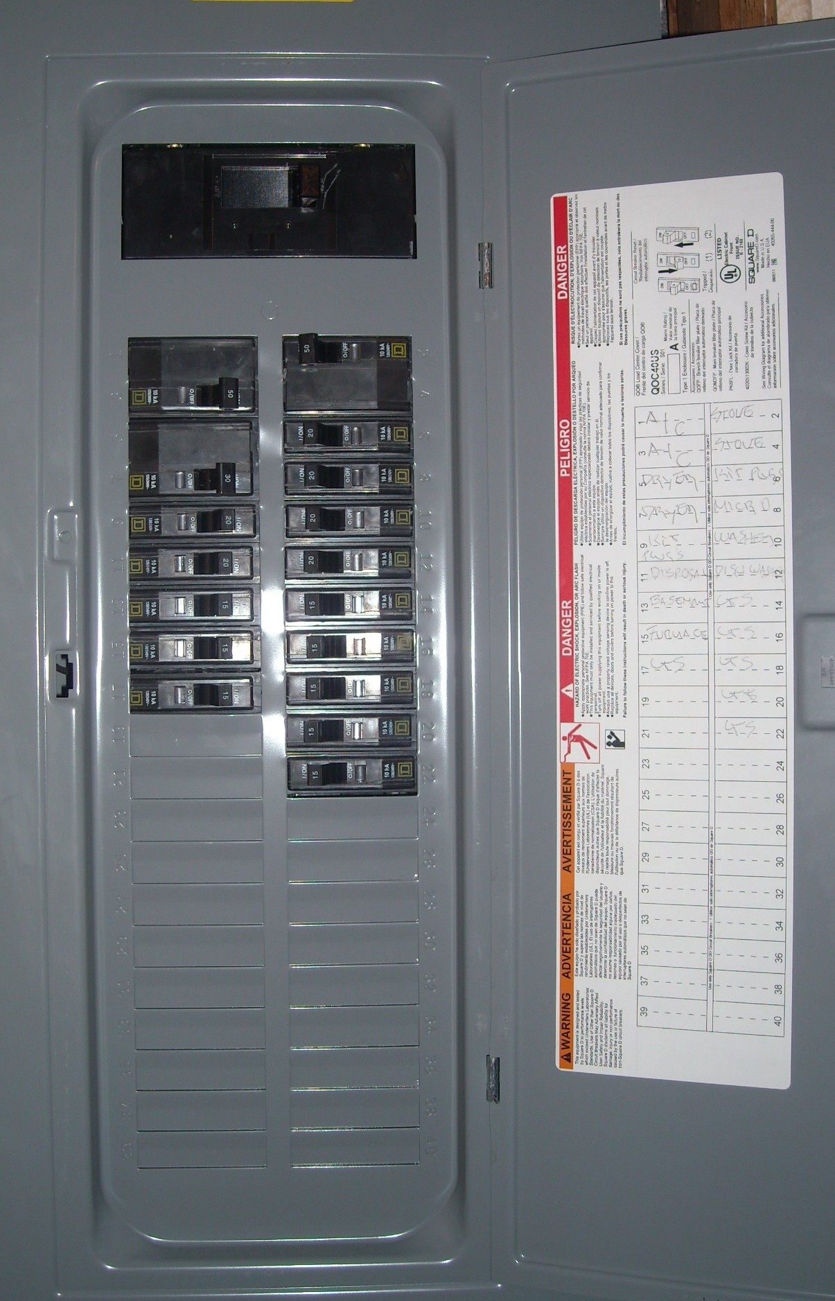 Fuse Box Or Circuit Breaker Panel : Hot water heater fuse box wiring diagram images